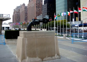 At the United Nations: the only safe weapon?