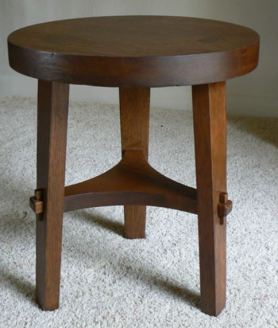 stickley 3 legged stool