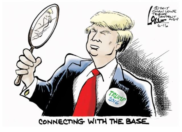 Donald Trump connecting with the base