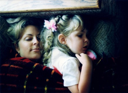 Carole & Charlotte napping